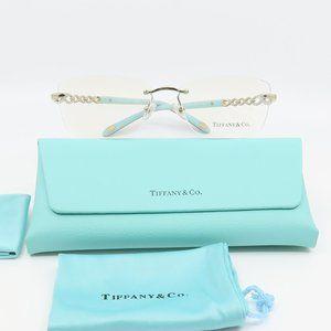 TF 1117-B 6021 Tiffany & Co Silver Rimless Glasses